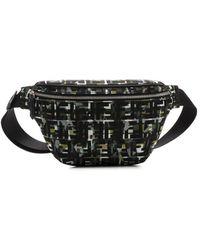 Fendi Multicolour Ff Camouflage Belt Bag - Black
