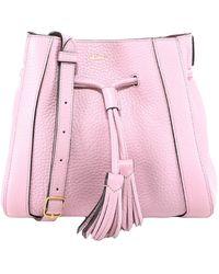 Mulberry Drawstring Tassel Detailed Shoulder Bag - Pink