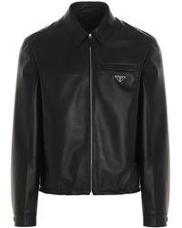 Prada Men's Upw374flyf0002 Black Other Materials Outerwear Jacket
