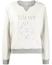Loewe Anagram Embroidered Sweatshirt - Grey