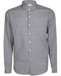 Ferragamo Gancini Print Shirt - Gray