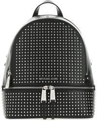 MICHAEL Michael Kors Rhea Medium Studded Backpack - Black