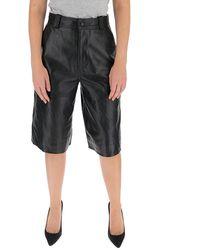 Ganni High-waist Bermuda Shorts - Black