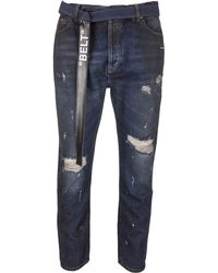 Off-White c/o Virgil Abloh - Distressed Jeans - Lyst