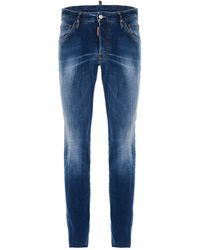 DSquared² Mid Rise Skinny-fit Jeans - Blue