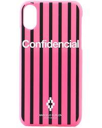 Marcelo Burlon Confidencial Iphone X Phone Case - Pink