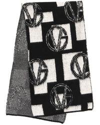 Versace Monogram Motif Scarf - Black
