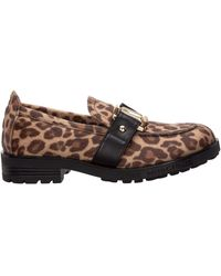 Love Moschino Logo Printed Loafers - Multicolour