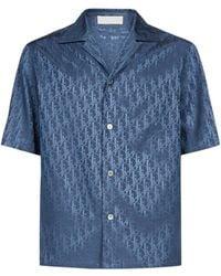 Dior Oblique Short Sleeve Shirt - Blue