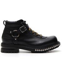 Alexander McQueen - Studded Strap Boots - Lyst