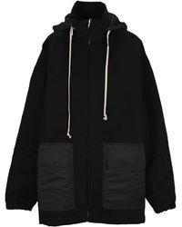 Rick Owens Drkshdw Oversize Padded Coat - Black