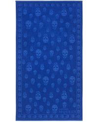 Alexander McQueen Skull Beach Towel - Blue