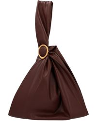 Nanushka Julia Faux Leather Tote Bag - Brown