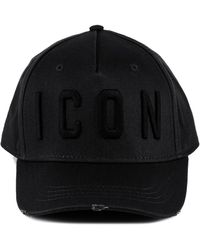 DSquared² Icon Baseball Cap - Black