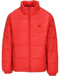 adidas Originals Stand Collar Puffer Jacket - Red