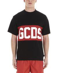 Gcds Logo Cotton T-shirt - Black
