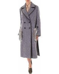 Fendi Double Breasted Coat - Grey