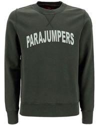 Parajumpers Logo Print Crewneck Sweatshirt - Green