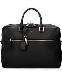 Saint Laurent Leather Briefcase - Black