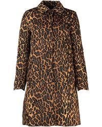 Miu Miu Printed Nylon Overcoat Nd - Multicolour