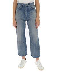 Saint Laurent Original High-rise Jeans - Blue