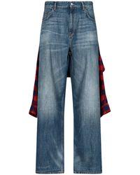 Balenciaga Hybrid Shirt Jeans - Blue