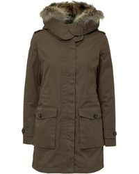 Woolrich Layered Hooded Parka - Green