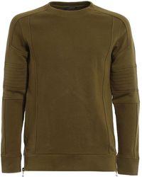 Balmain - Biker Cotton Sweatshirt - Lyst