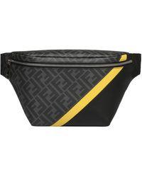 Fendi Ff Diagonal Belt Bag - Black