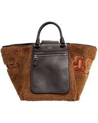 Max Mara Logo Detailed Tote Bag - Brown