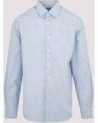 Lanvin Striped Long-sleeve Shirt - Blue