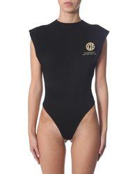 Gcds Bodysuit With Logo - Black