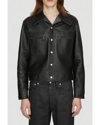 Maison Margiela Reversible Leather Jacket - Black