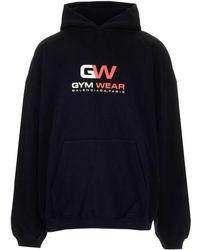 Balenciaga Gym Wear Hoodie - Black