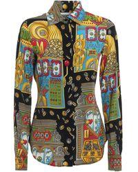 Moschino Slot Machine Twill Shirt - Black