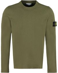 Stone Island Cotton Crew-neck Jumper - Green