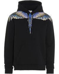 Marcelo Burlon Men's Hoodie Sweatshirt Sweat Wings - Black
