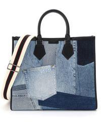 Dolce & Gabbana Patchwork Denim Tote - Blue