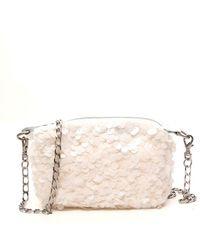 Junya Watanabe Sequin Embellished Mini Crossbody Bag - White