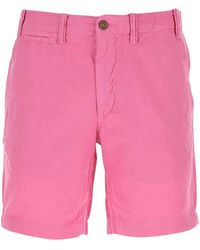 Polo Ralph Lauren Linen Blend Bermuda Shorts Uomo - Pink