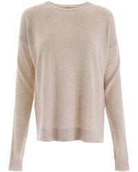 Le Kasha Crete Side-slit Cashmere Jumper - Natural
