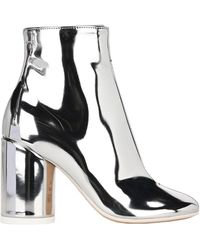 MM6 by Maison Martin Margiela Block-heel Ankle Boots - Metallic
