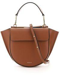Wandler Hortensia Mini Leather Bag - Brown