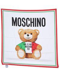 Moschino Scarf With Italian Teddy Bear Print - Multicolor