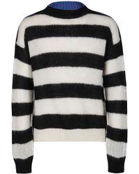 Marni Striped Knit Sweater - Blue