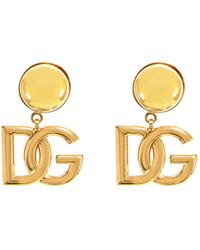 Dolce & Gabbana Interlocking Logo Earrings - Metallic