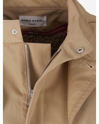Sonia Rykiel Drawstring Waisted Hooded Zip-up Coat - Natural