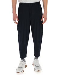 Homme Plissé Issey Miyake Pleated Tapered Pants - Blue