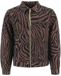 Aries Printed Zipped Jacket - Multicolour