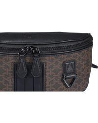 Bally Logo Plaque Zipped Belt Bag - Brown